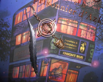 Bookmark inspired Harry Potter time Turner with OWL