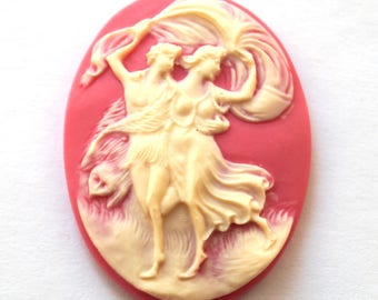Cabochon cameo couple (29x38mm)