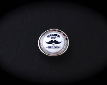 Pressure 18mm for jewelry fantasy cabochon - Barber mustache