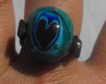 ring spun BAG.0827 Lampwork Glass Bead