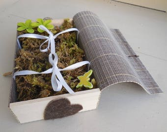 Ring bearer for wedding - bamboo box