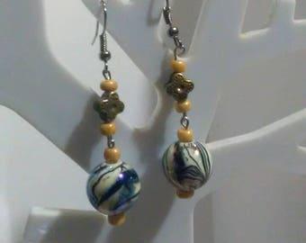 Cute marble earrings