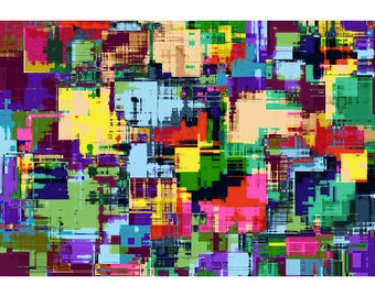 Multi Colored Mosaic - Abstract Art Print - Digital Art Print - Abstract Art Poster