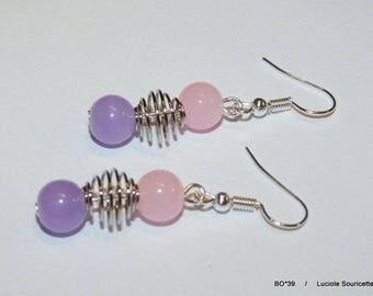 BO * 39 earrings Pink Purple