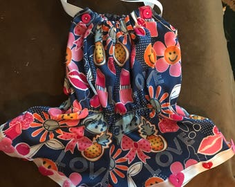 Hand made baby girl romper