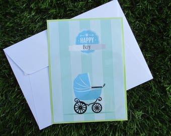 """Baby shower or birth """"boy"""" card"""