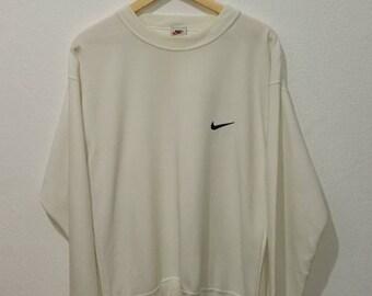 RARE!! Vintage Nike Small Logo Embroidery Sweatshirt Jumper Pullover
