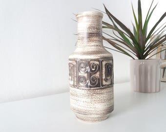 Ilkra 1008 - 20 fat lava vase | Mid Century Modern West German pottery