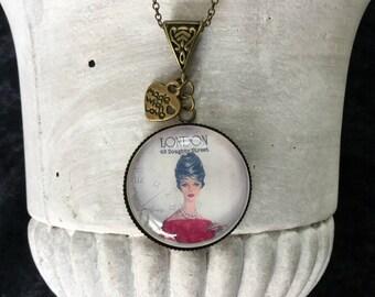 Bronze necklace cabochon