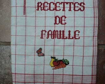 Notebook with his family recipe notebook cover