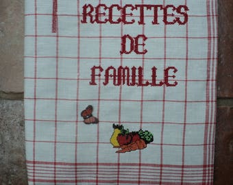 Family recipe notebook