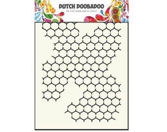 Stenciled Dutch Doobadoo Mask Chicken Wire A5 new stencil Art