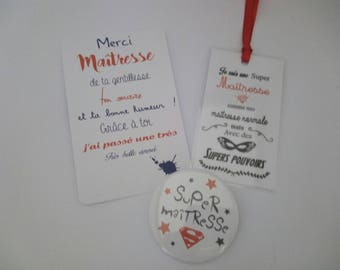 Label page and gift card, badge centerpiece year end teacher gift idea