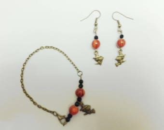 "Set bracelet and earrings ""Witches"""