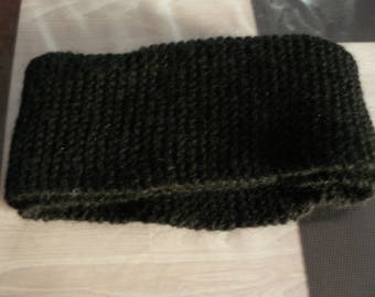 very warm snood adult black collar