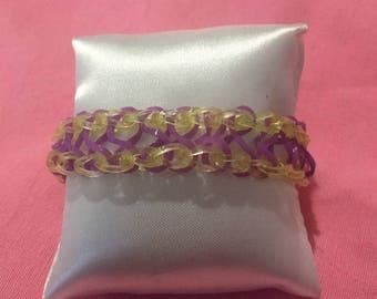 Rainbow Loom bracelet infinity elastics are