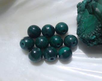 AAA Malachite 6mm Round Beads