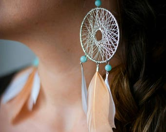 "Dream Catcher - ""AMAZONITE"" Collection earrings"