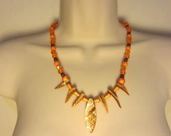 Orange Pearl Necklace
