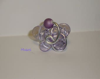 Translucent Purple Butterfly Adjustable ring, wedding