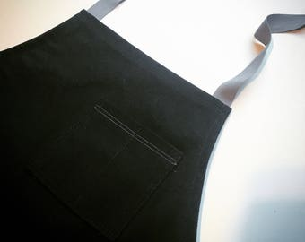 Black Canvas Apron w/ Grey straps