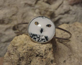 Bracelet silver with cabochon 9 separate