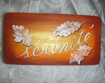 """Painting """"serenity"""" wooden plaque"""