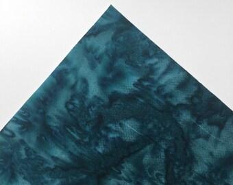 Teal  Watercolor - Custom Print Fabric Felt - 8x11 Sheet - Fabric Felt