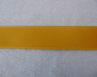 Double faced satin ribbon, gold (S-0045)