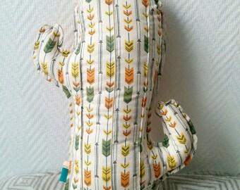 Cactus print cushion