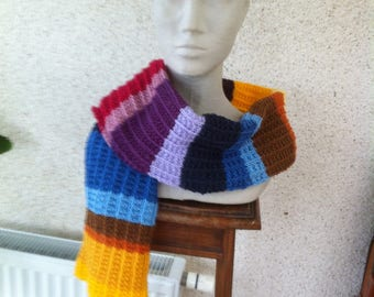 Colorful scarf soft, warm wool and acrylic