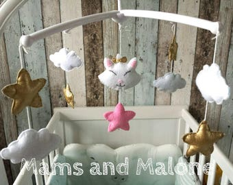 Musical baby mobile complete with Marie cat from disney
