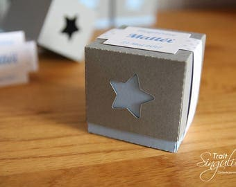 Box dragees - star Theme - birthday or christening