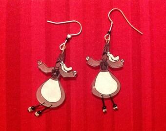 Earrings small Breton shrink plastic. Different designs.