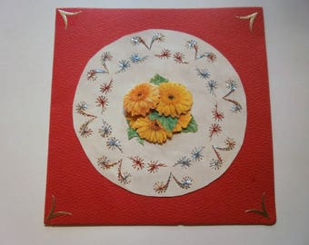 Embroidered card and 3d Buttercup (18)