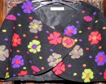 Boiled wool shoulder-warmer