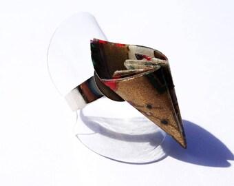 """""""Origami Swan"""" ring petal"""
