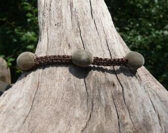Zanzibar seeds and macrame shambala bracelet
