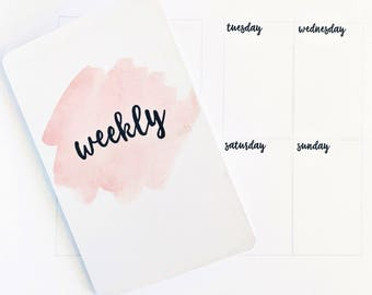 SUNDAY Start Undated Weekly A6 TN Printable Insert WO2P