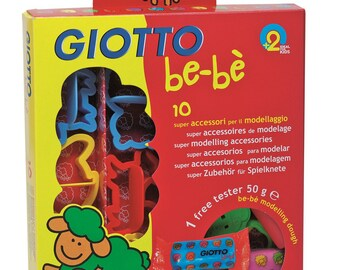 Accessories for playdough x 10 - baby - Ref 464200 GIOTTO - until the stock!
