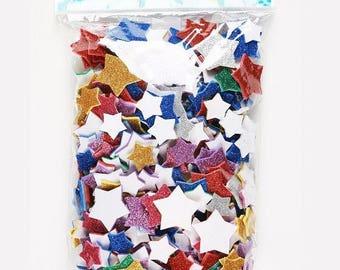 Adhesive foam glitter stars x 500 - OZ International - Ref SC41783 shapes