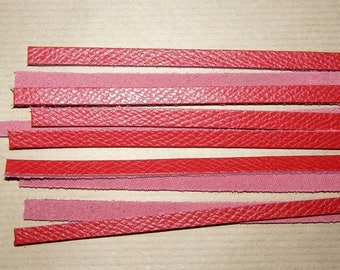 5mm wide red leather strap