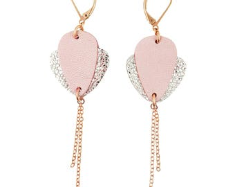 CROCUS candy leather earring