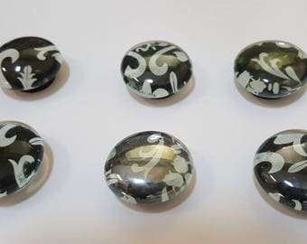 Black & White Bubble Magnets