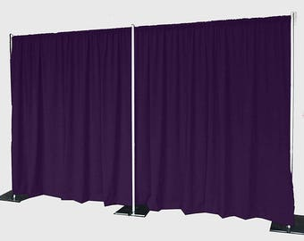 5feet x 8feet MAGENTA Polyester Fabric Backdrop Background Drapes for Pipe and Drape