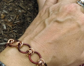 Bronze & Rose Gold Bracelet