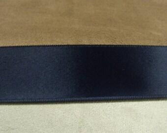 Navy Ribbon satin-2.5 cm-