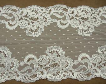 LACE of CALAIS - 22 cm - white