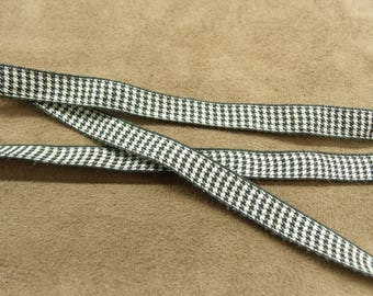 FANCY Ribbon - 1 cm-GINGHAM - black & white