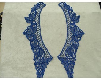 COLLAR in lace - blue